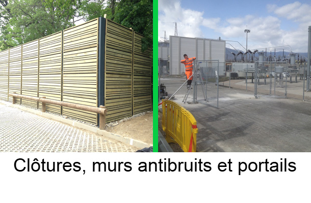 clotures murs antibruits portails