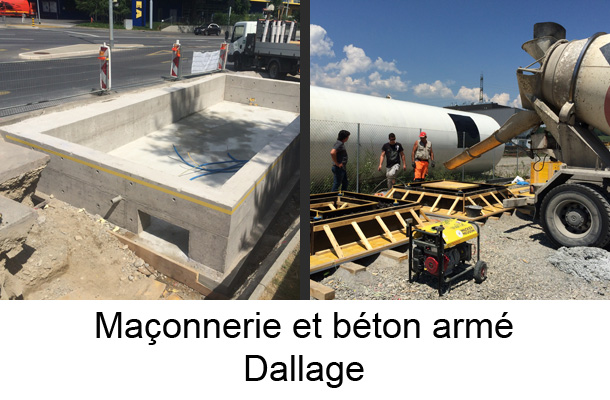 maconnerie beton armé dallage