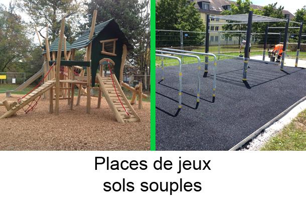 places de jeux sols souples